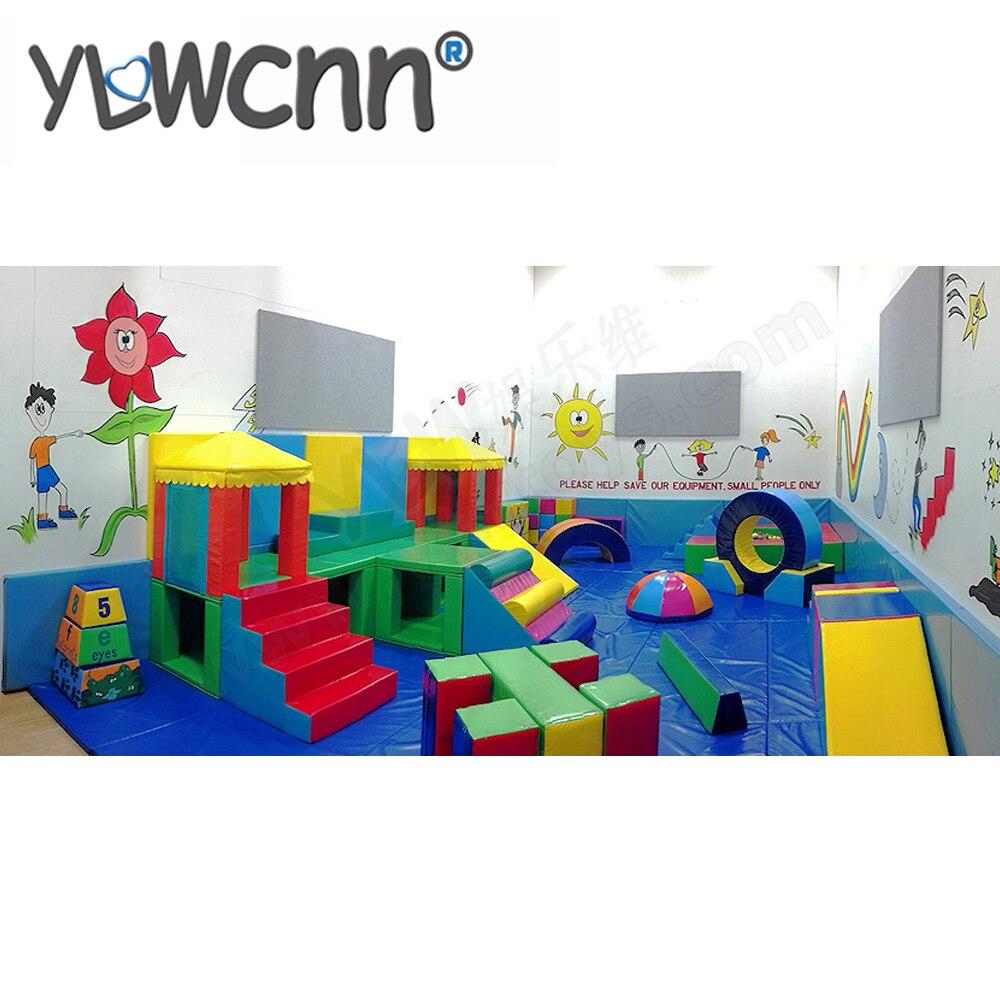 Ensembles de jeux souples équipement enfants salle de jeux souple INA171082