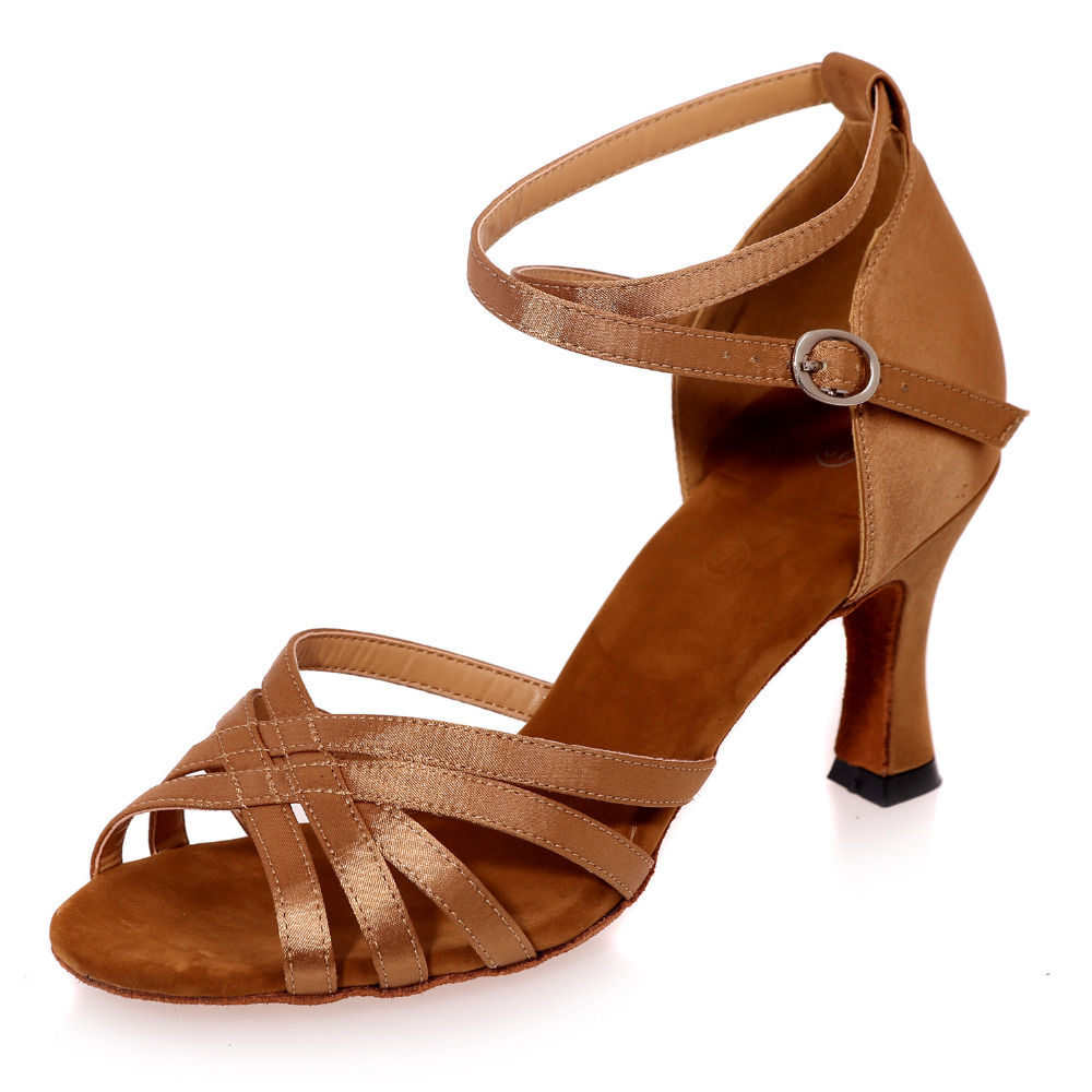 ФОТО Elegant narrow bands girl lady satin sandals dancing pumps latin jazz belly dance shoes soft leather sole gold brown black red