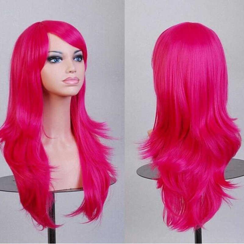 Soowee-perruque synthétique bouclée longue rose, perruque pièces, perruque de Cosplay grise ou rose Blonde pour femmes noires
