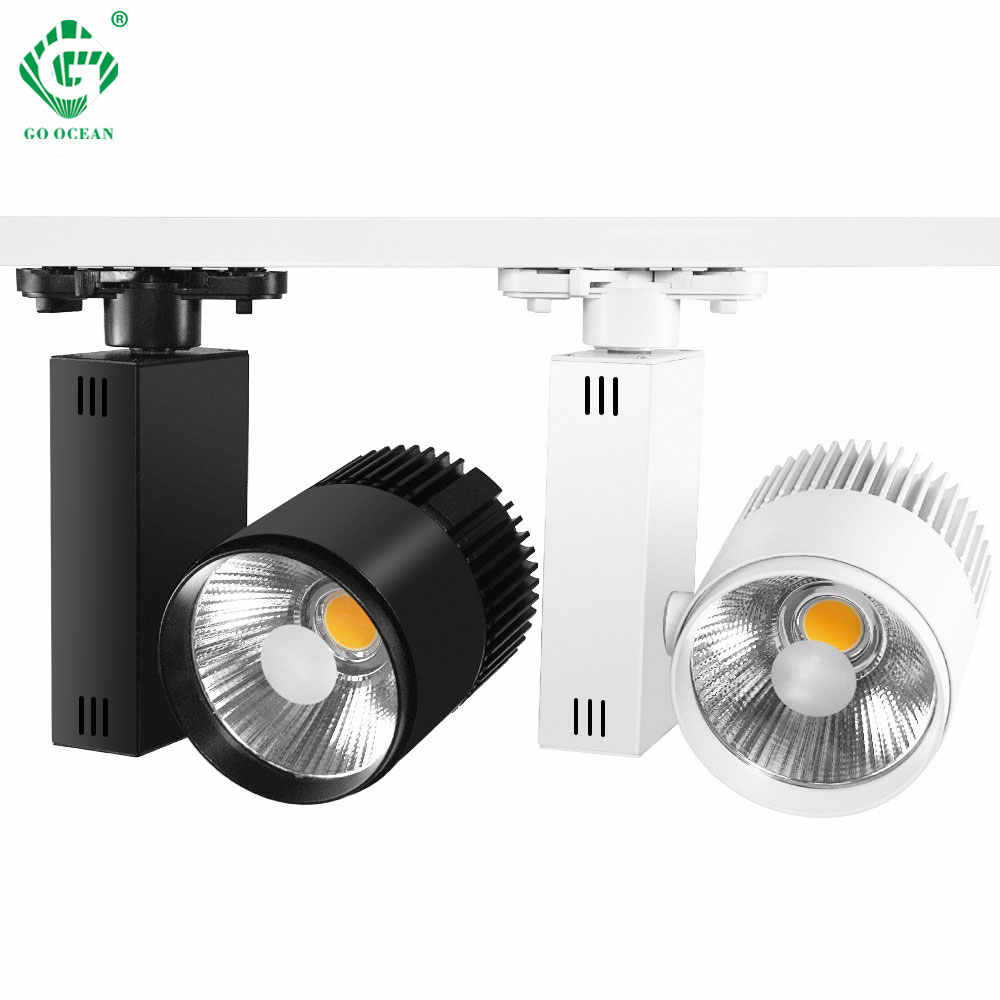 20W LED Track Lights Modern Track Aluminum Rail Spotlight Lamp Clothing Shop Shoe Store Stage Showroom Lighting Fixture