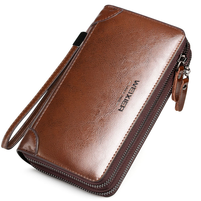 LEINASEN New PU Leather mens handbag Purse small square bag Fashion Casual Long Business Male Clutch Wallets Mens Purse Hot