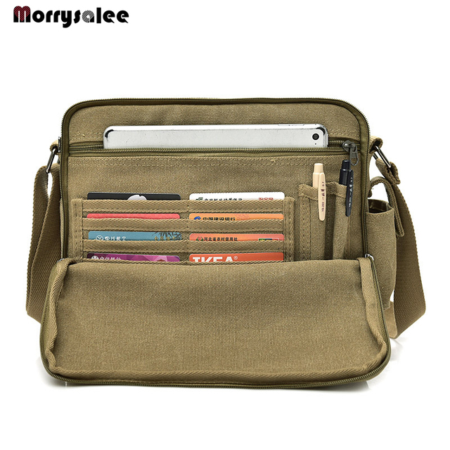 2018 New Men Canvas Bag Man Shoulder Bags Men s Casual Bag-in Top ... ac7913acfbbe7