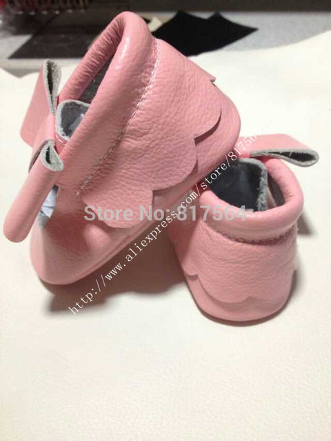 NEW Fashion cute flower baby moccasins butterfly knot genuine leather soft sole prewalker toddlers/infants baby shoes moccasin
