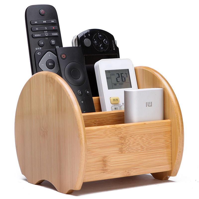 Remote Control holder Key Collection Cosmetics Receipt Inclusion Organizer Organizador Storage Box Wooden Box Organizer Box