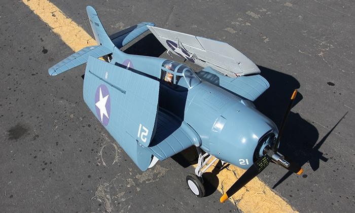 Sky flight Hobby 1200mm wingspan F4F rc propeller planeSky flight Hobby 1200mm wingspan F4F rc propeller plane