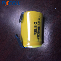 20 piezas PKCELL-batería recargable de 1200mah, 4/5SC subc sub c sc NICD, 4/5 sub c, 1,2 v, NI-CD