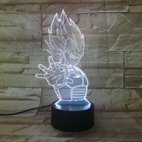 Creative 3D Dragon Ball Vision Desk Lamp LED 7 Color Changing Baby Sleeping Night Light Christmas