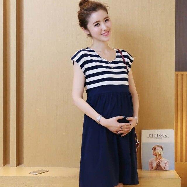 Black and White Maternity Dress