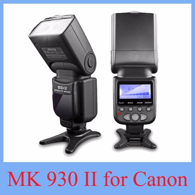 Prix pour 2017 NOUVEAU Meike MK-930 II Flash Speedlight/Speedlite pour Canon 6D EOS 5D 5D2 5D Mark III II COMME Yongnuo YN-560 YN560 II YN560II