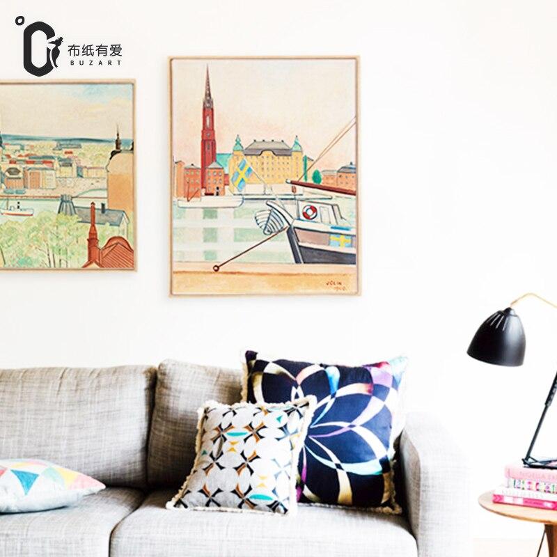 İsveçdəki həyat İmpressionist Ev dekorasiya üzüm Yaşayış - Ev dekoru - Fotoqrafiya 2