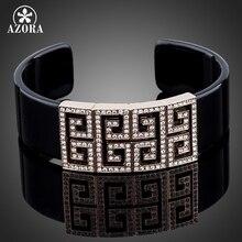 AZORA G Style Rose Gold Color Stellux Austrian Crystal Bangle Bracelet TB0029