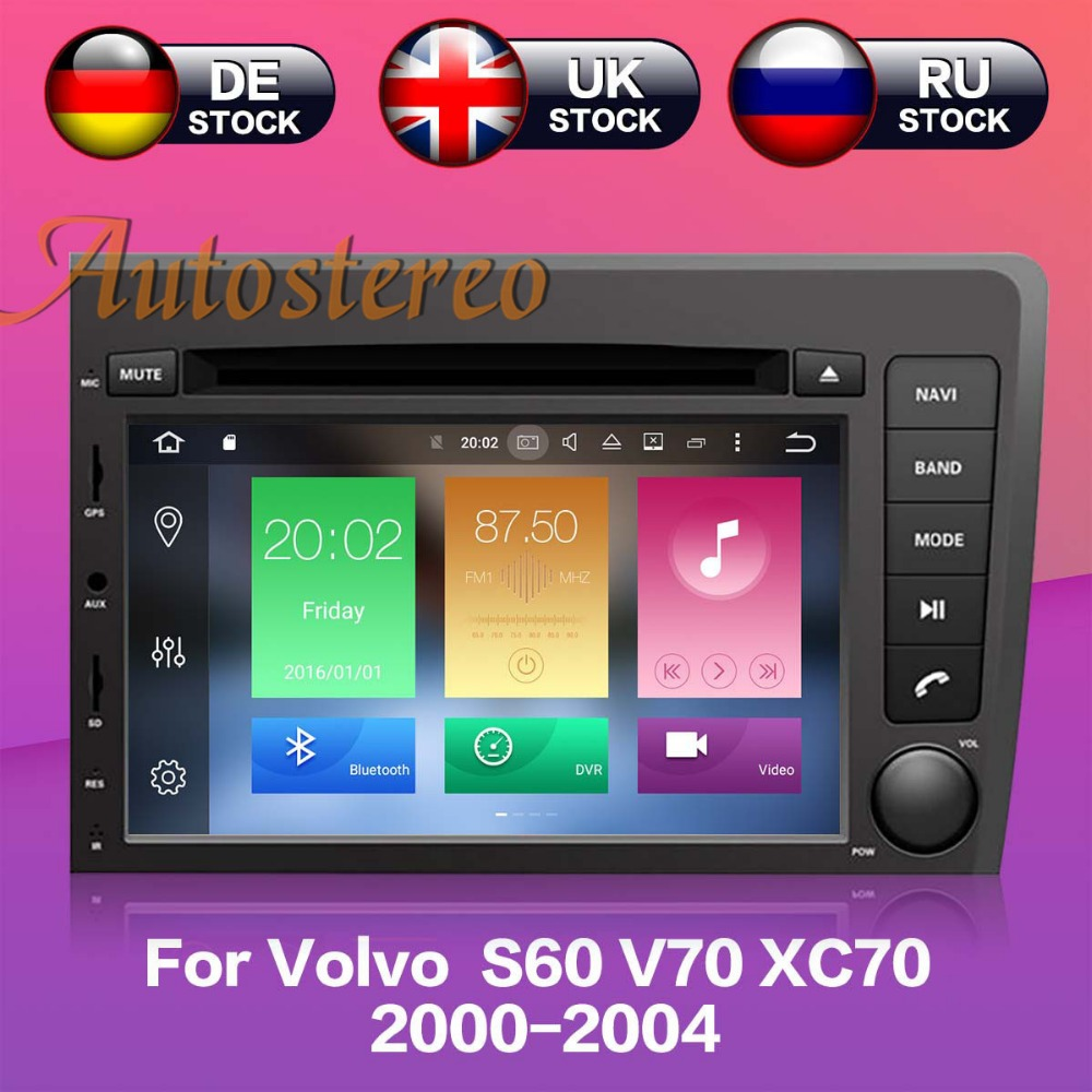 Krando Android 7 1 Car Radio Dvd Multimedia For Volvo S60: Android 7.1 Quad Core Car DVD CD Player Autostereo GPS
