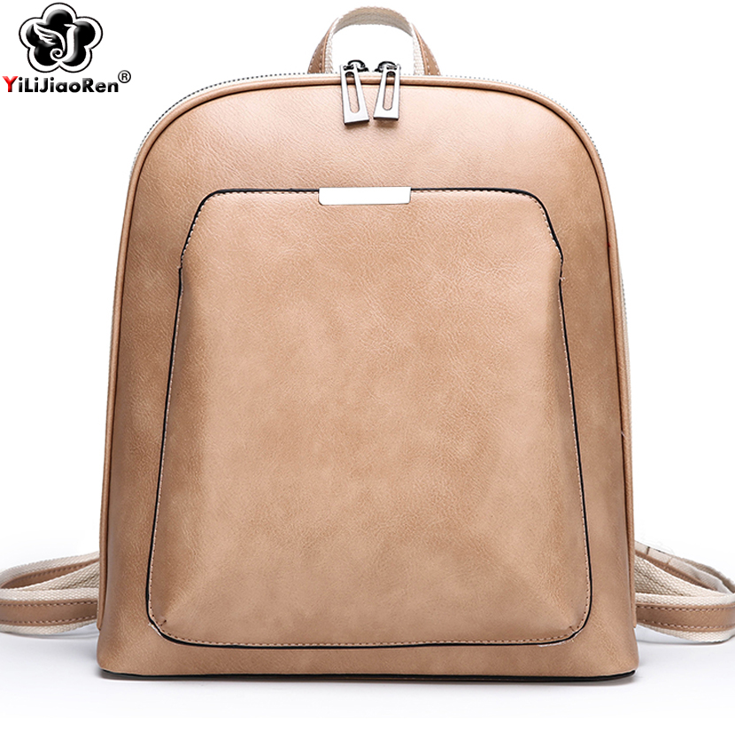 Fashion Sequined Backpack For Women Luxury Brand Feminina Leather Backpack Large Capacity Bookbag Simple Shoulder Bags Mochila