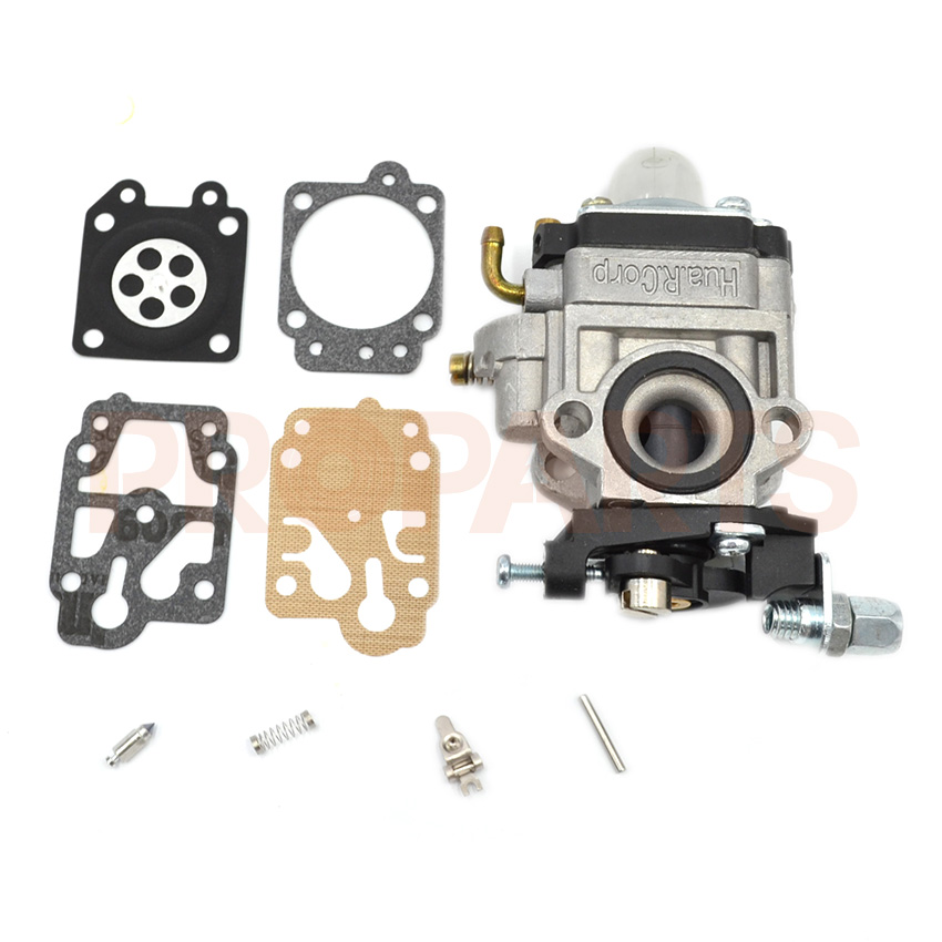 26cc Parts 1E34F Lawn Brush Cutter Hedge Trimmer Engine Motor Carburetor Carb Repair Kit 3set brush cutter carburetor gasket kit and primer bulb needle 40 5 44f 5 34f 36f 139f gx35 grass trimmer carburetor repair kit