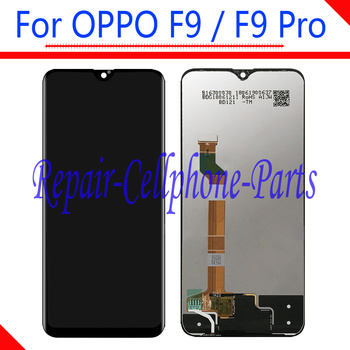 Black 6.3 inch New Full LCD DIsplay + Touch Screen Digitizer Assembly Replacement For OPPO F9 CPH1825 / F9 Pro CPH1823