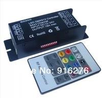 Wholesale Led DMX512 Controller DMX Decoder Controller DC 12V 24V 18A DMX512 Decoder DMX + RF remote controller Free Shipping