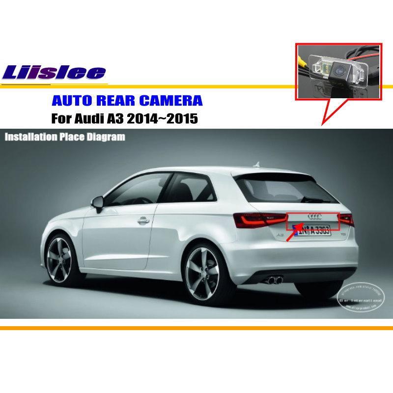 Liislee Car Rear View Camera For Audi <font><b>A3</b></font> 2014~2015 / Reverse Camera / HD CCD RCA NTST PAL / License Plate Light OEM
