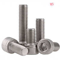 200PCS/Lot M5 DIN912 304 stainless steel Six angle screw bolts the head of six angle screw