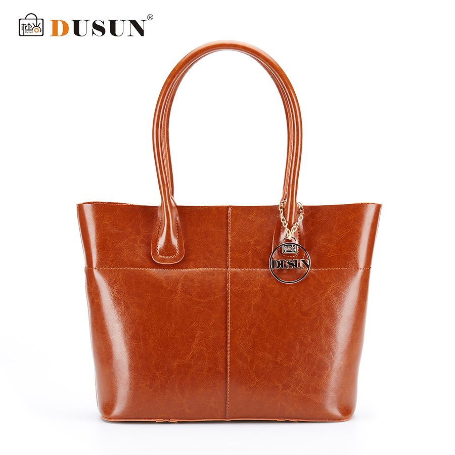 все цены на  DUSUN 2016 New Women Handbag Genuine Leather Women Bag Luxury Brand High Quality Bag Casual Tote Women Handbags Bolsa Feminina  в интернете