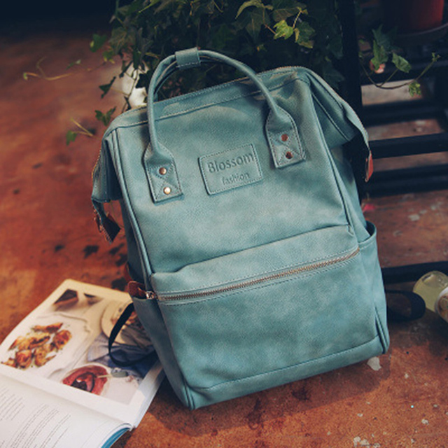 Fashion Women Leather Backpack Youth Korean Style Shoulder Bag 1