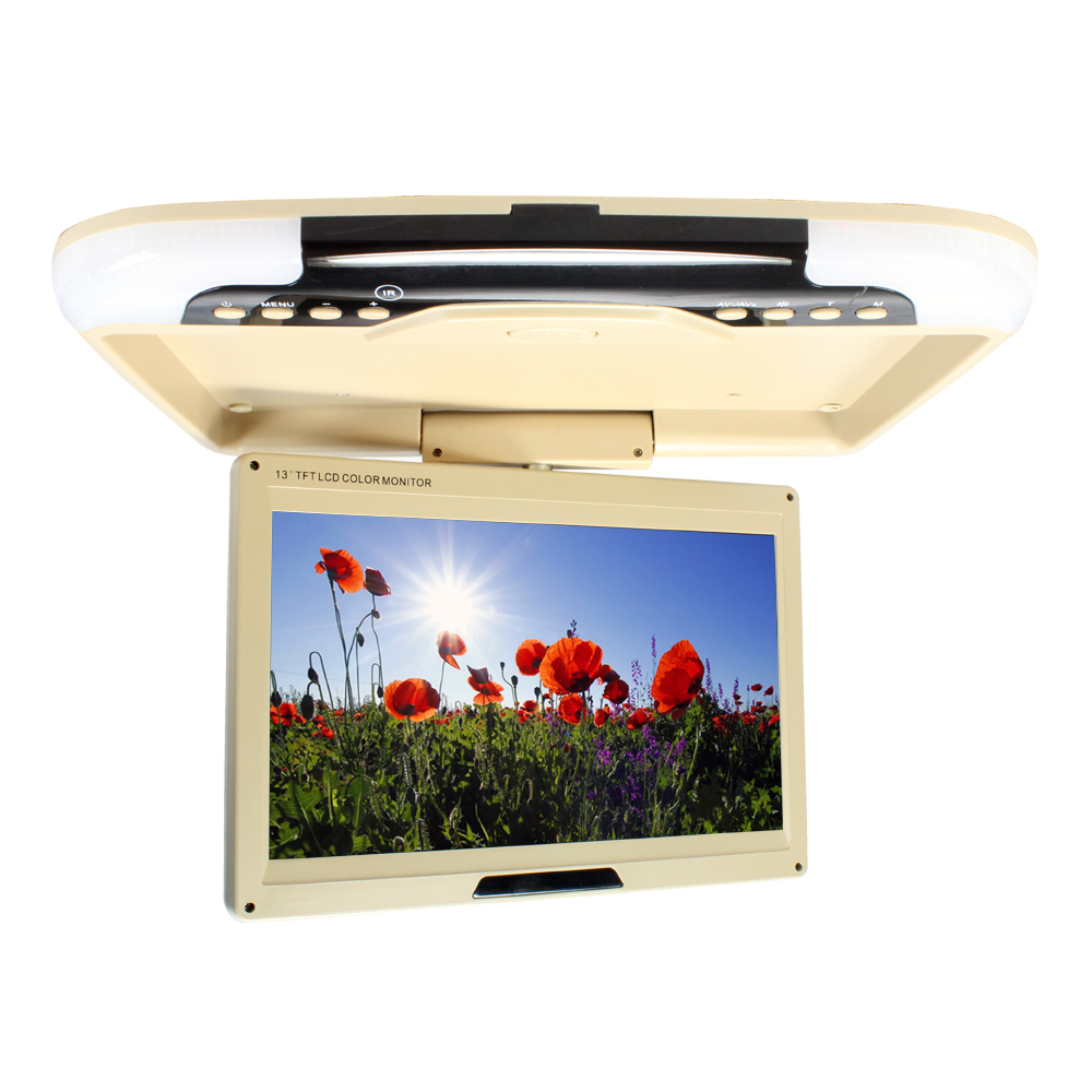 13 inches LED Digital Screen Car Roof Mounted Monitor Car Ceiling Monitor Flip Down Monitor Overhead