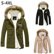2017 Promotion Limited Cotton Loose Winter Jacket Men Collar Hooded Handsome Men Winter Thick Parka Trench Coat Jacket Lis