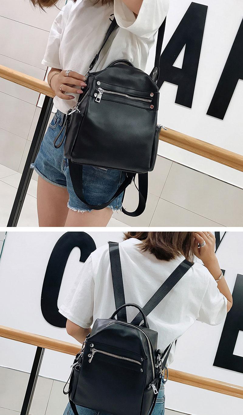 New Shoulder Bag Multi-purpose Casual Fashion Ladies Small Backpack Travel Bag