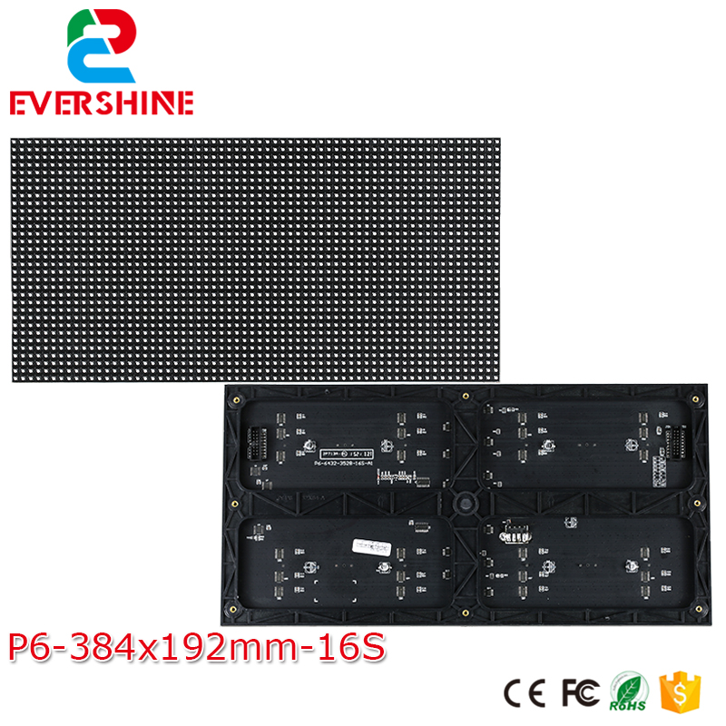 P6 LED module 384*192mm 64*32pixels 3in1 1/16 Scan Indoor SMD3528 3in1 P6 RGB full color led module board sign