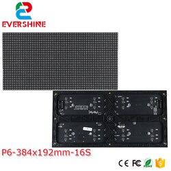 P6 modułu led 384*192mm 64*32 pikseli 3in1 1/16 skanowania kryty SMD3528 3in1 P6 rgb pełny kolor led płyta modułu znak