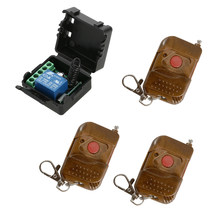 Smart Home 433Mhz Wireless Remote Switch Relay Receiver Transmitter Switch Module+3PCS RF Transmitter Remote Control 1527(China)
