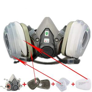 Image 2 - 3M 6200 Gas Mask with 603 Filter Adapter for Anti Dust Mask Painting Spraying Gas Mask Dust Proof Respirator