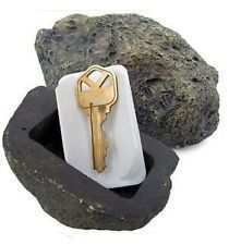 Simulation Stone Shape Key Box Outdoor Garden Security Key Box Rock Hidden In Stone Safe Key Storage Box