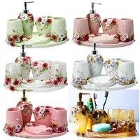 Brief Fashion Bathroom Five Pieces Set Of Bathroom Rustic Wash Set Modern Wedding Supplies Kit