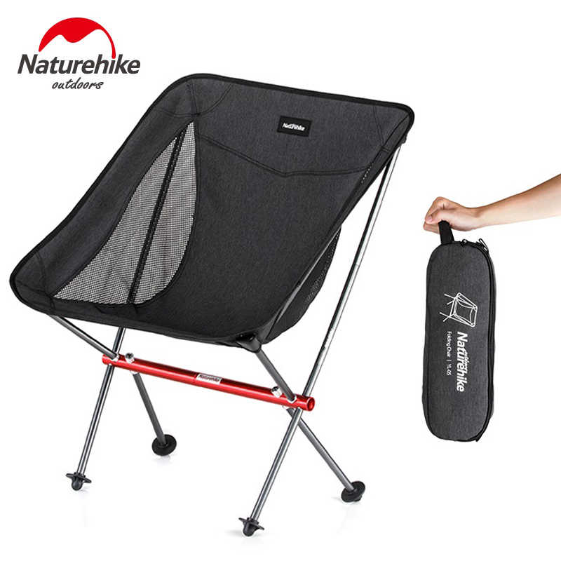 52664ca547dc NatureHike New Camping Chairs Portable Collapsible Moon Chair Fishing BBQ  Garden Stool Ultralight Folding Hiking Seat Load 150KG