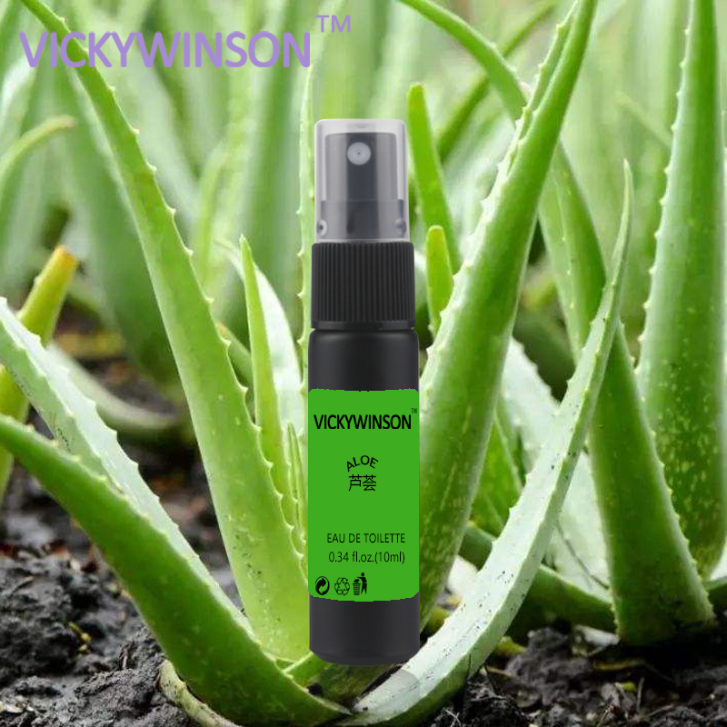 Купить с кэшбэком VICKYWINSON Aloe deodorization 10ml Aloe vera body smell purified water deodorant daily portable antiperspirant spray