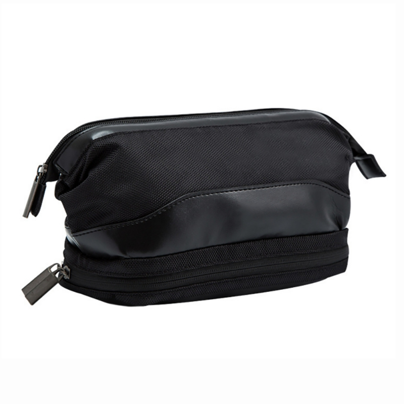Travel Toiletry Bags Fashion Wash Zipper Closure Double Compartments Makeup Shaving Grooming Bag For Men And Women Gym Sports