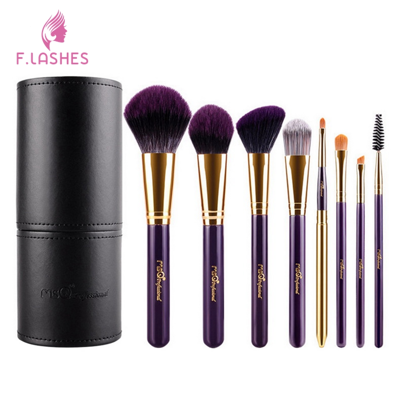 F.Lashes 8Pcs/Set Professional Makeup Brushes Mask Brush Facial Eye Makeup Face DIY Mask Brushes Cosmetic Beauty Tools Travel 1set new 4 in1 makeup beauty diy facial face mask bowl brush spoon stick tool set