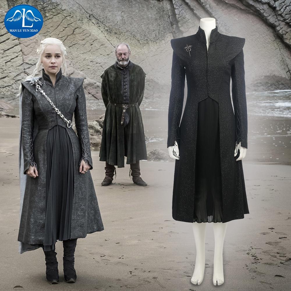 buy new game of thrones costume women daenerys targaryen cosplay costume halloween costumes for women custom made from