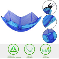 260x130cm Portable Lightweight Tent Parachute Fabric Outdoor Hiking Camping Sleeping Hammock Hanging Bed With Mosquito Net