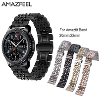 Stainless Steel Amazfit Band 20mm 22mm For Xiaomi Huami Amazfit Bip Strap Amazfit Stratos Pace 2