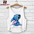ZHBSLWT fashion 3D Print women tank tops & camis sleeveless vest girls Animal design summer short irregular T-Shirts