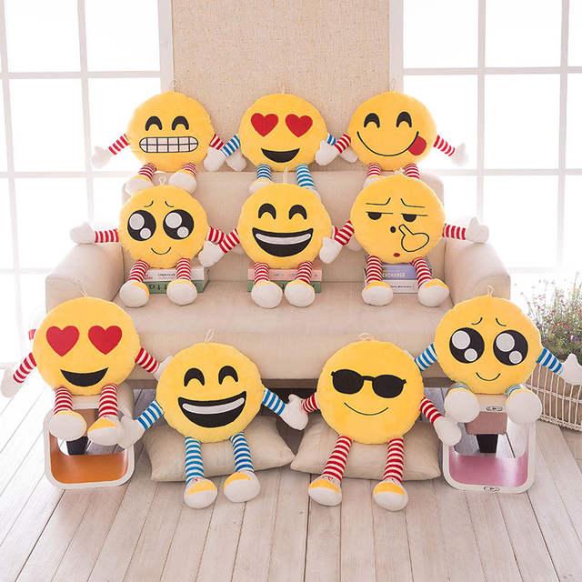 Online Shop Cute Office Seat Pillows Soft Emoji Smiley Emoticon