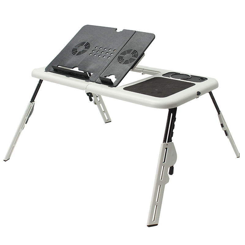 Folding Laptop Stand Desk Holder Laptop Desk Table with Powerful  2 USB Cooling Fans Mouse Pad Notebook Table Laptodesk for Bed best price 4pcs notebook accessory laptop stand heat reduction pad cooling feet stand holder lapdesk notebook stand 0 96
