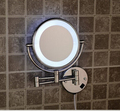 Hot Bathroom Chrome Wall Mounted 8 inch Brass 3X/1X Magnifying Mirror LED Light Folding Makeup Mirror Cosmetic Mirror Lady Gift