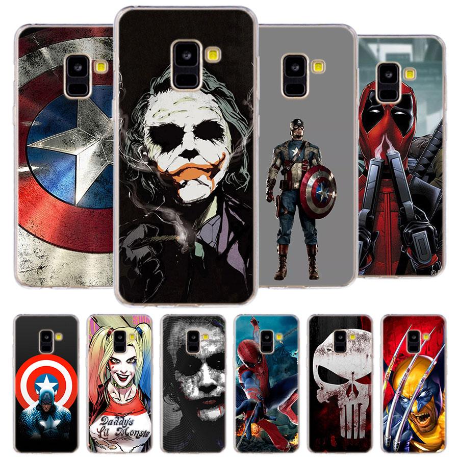 avengers Phone Case for Samsung Galaxy J2 J3 J4 Plus J5 J6 Plus J7 J8 2018 Soft Silicone Cases Cover