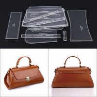 1set laser cut DIY Handmade Single Shoulder bag Messenger bag tote Leather Craft Sewing Pattern Sewing stencil
