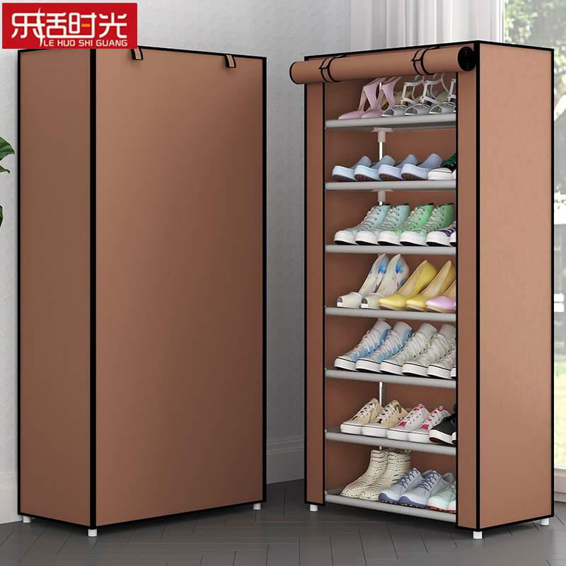 Multi Layer Simple Shoe Rack Household Dust-proof Assembled Saving Space Shoes Organizer Storage Cabinet Shoes Shelf For Home