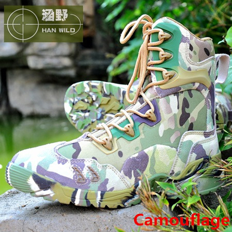 2017 Hot Sale Camouflage Tactical Hiking Shoes Anti-skid Wear Resistant Breathable Camping Boots Fishing Climbing Men Sneakers new hot sale children shoes comfortable breathable sneakers for boys anti skid sport running shoes wear resistant free shipping