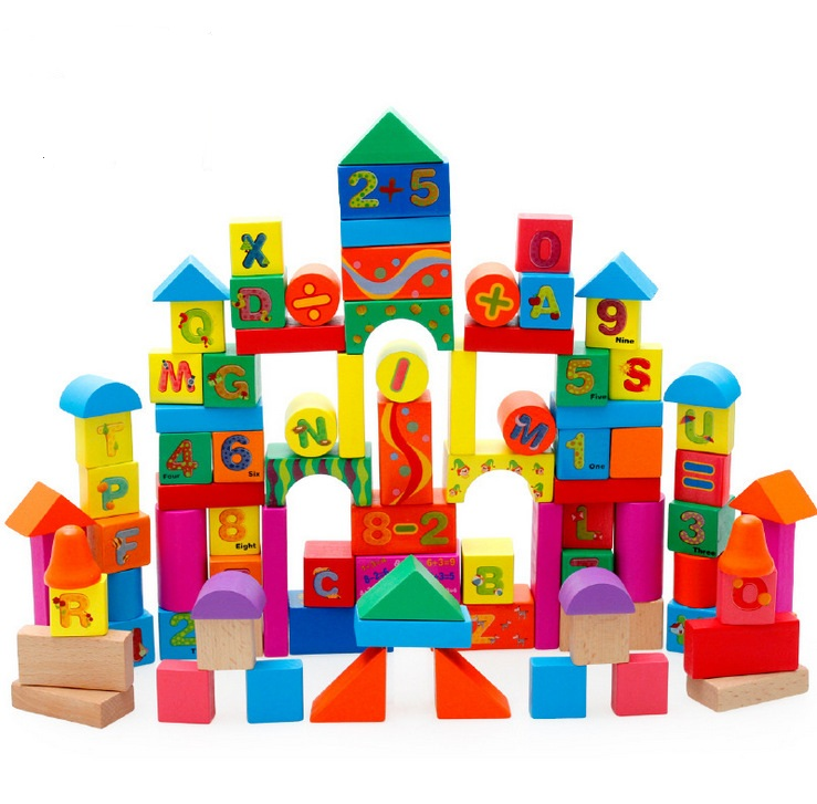 Wooden Montessori Educational Game Geometric Assembling Blocks Toys Educational Number English Learning Building Blocks W072 delivery is free children s makeup geometric building blocks montessori teaching aids 8 sets wooden toys educational toys