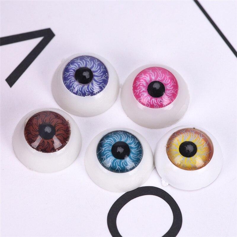 5pairs 10pcs half round glass eyes diy animal eyes dolls eyes B14MM-N